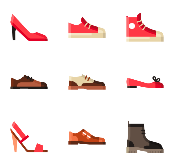 Shoe icon png. Shoes packs vector