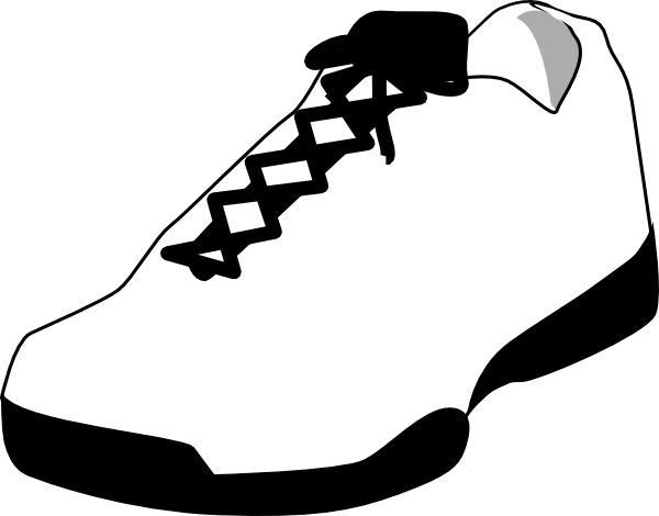 Shoe outline png. White clip art at