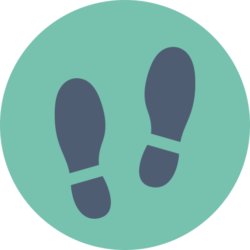 Shoe print png. Foot icon