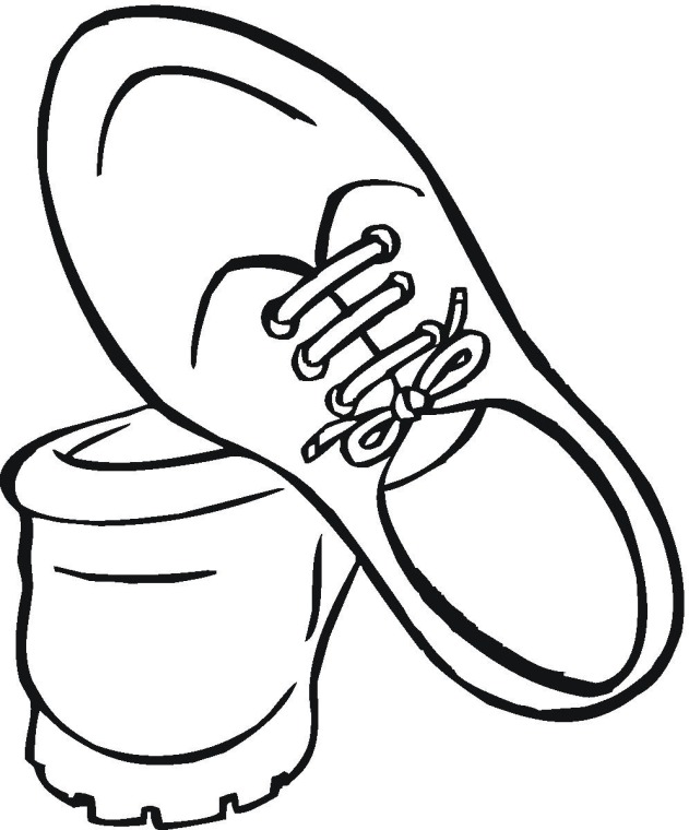 Shoes clipart colour. Basketball coloring pages getcoloringpages