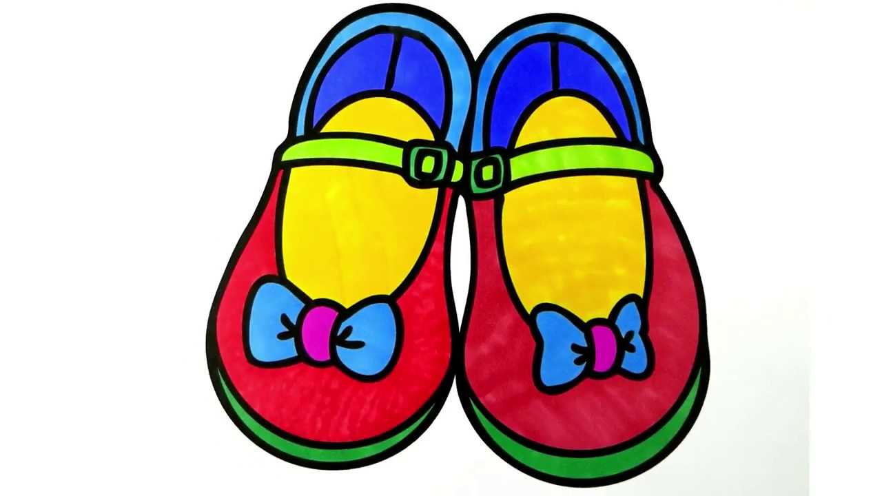 Shoes clipart colour. How to draw and