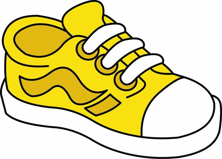 Shoes clipart colour. Best barvy tvary