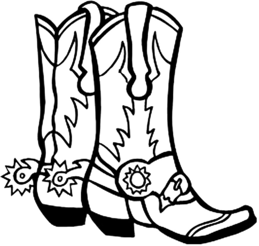 Shoes clipart cowboy. Cartoon boots with spurs