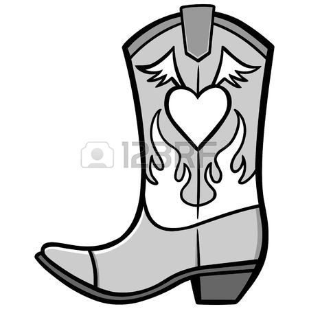 Shoes clipart cowboy. Cowgirl boots drawing at
