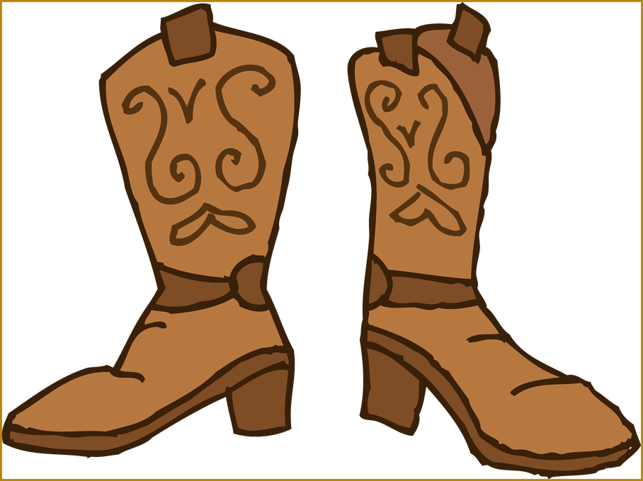 Shoes clipart cowboy. Appealing western boot and