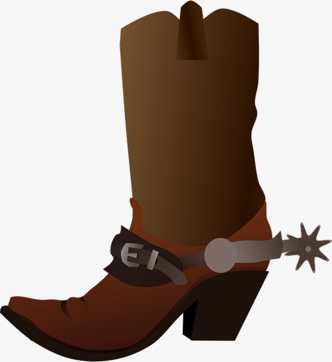 Shoes clipart cowboy. Cartoon png image and