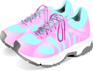 Women s clip art. Shoes clipart gym shoe banner library library