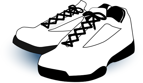 Shoes clipart gym shoe. White clip art at