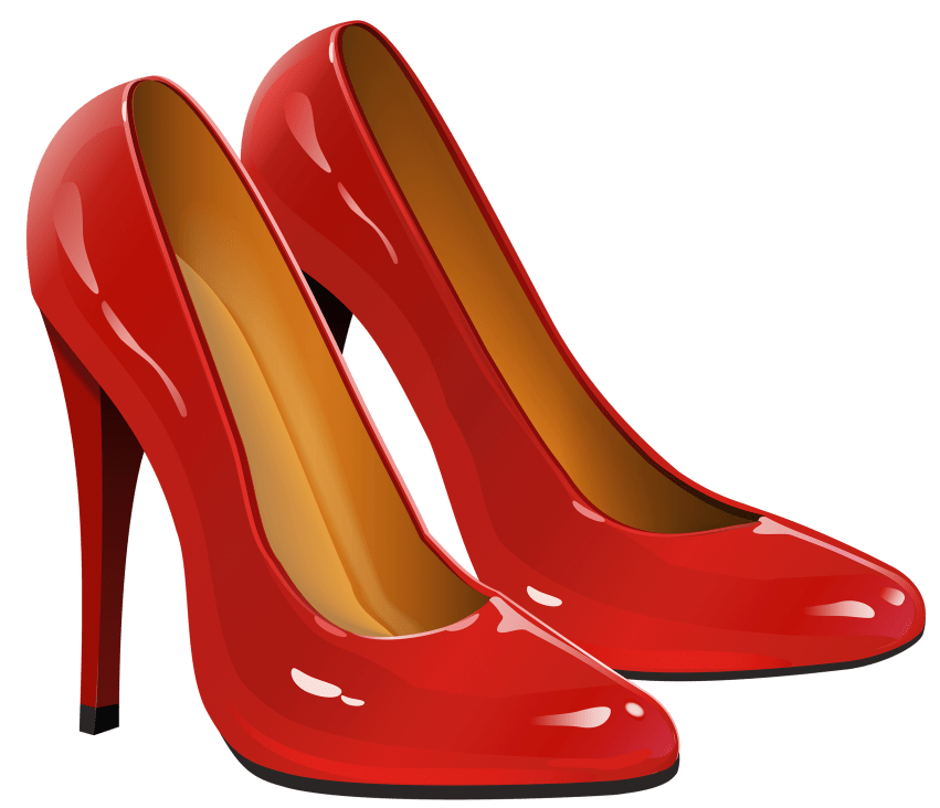 Shoes clipart png. Red heel free images