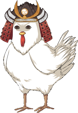 Shogun drawing logo. Chicken medieval cop wiki