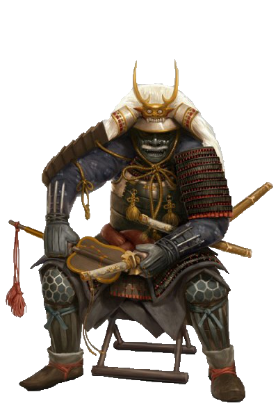 Shogun drawing samurai. Render by lanoif asian