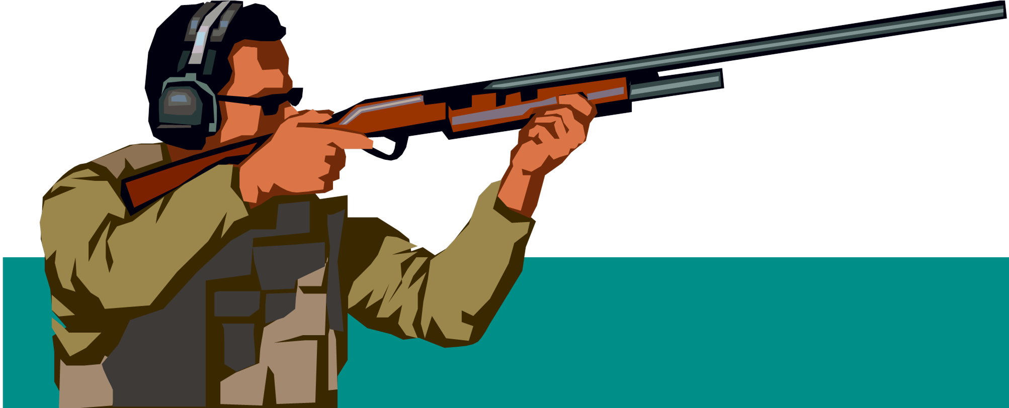Shooting clipart real gun. Free sporting clays cliparts