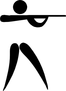 Shooting clipart. Olympic sports pictogram clip