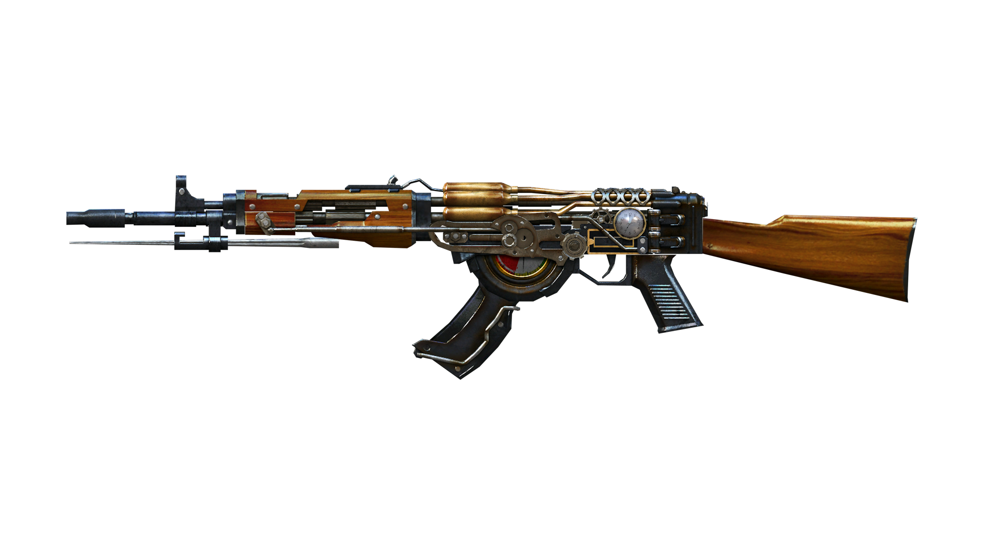 Transparent rifle steampunk. Ak drawing clipart images