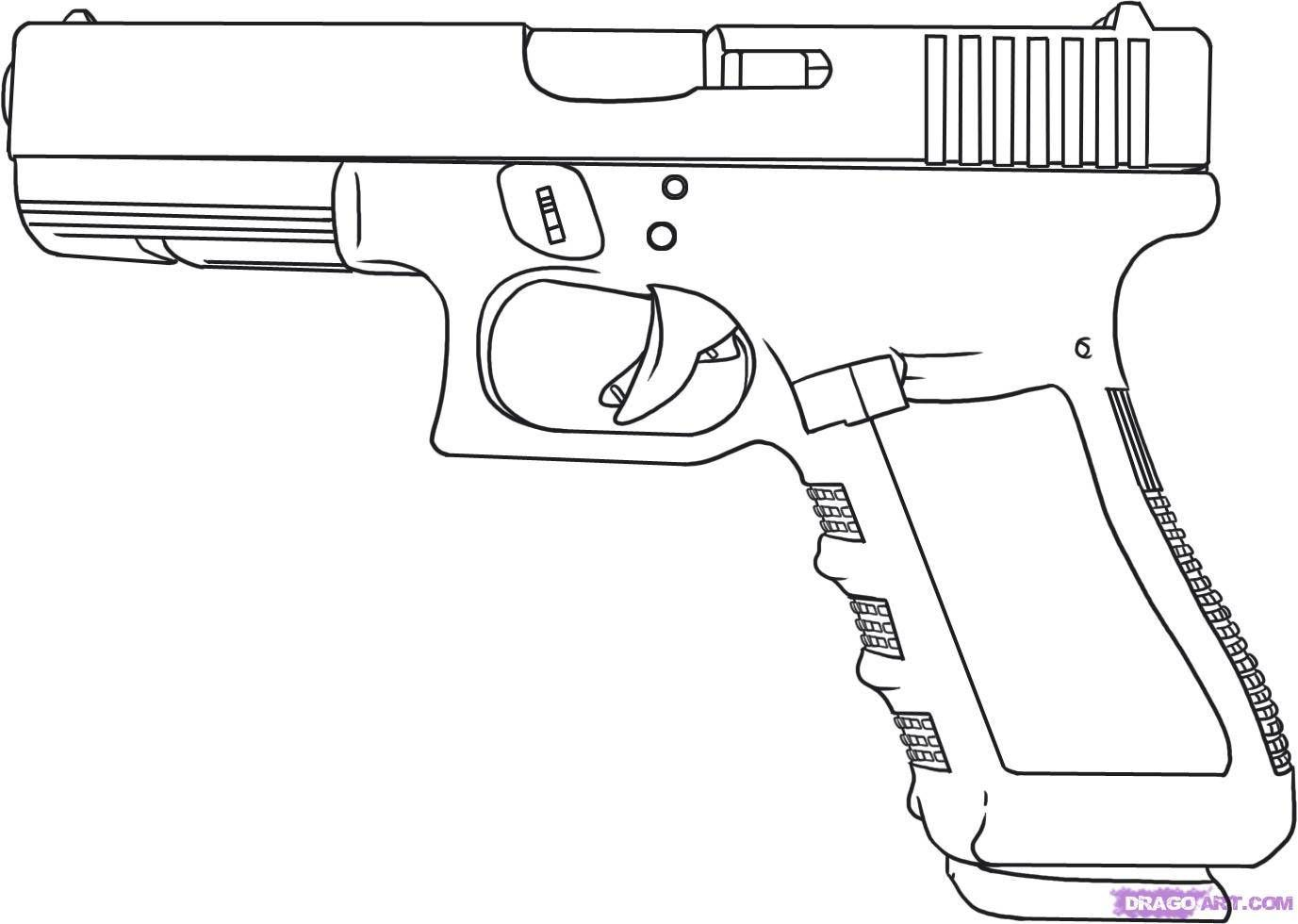 Shooting clipart easy. Gun drawings picture to
