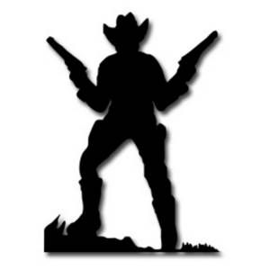 Shooting cowboy. Free cliparts download clip
