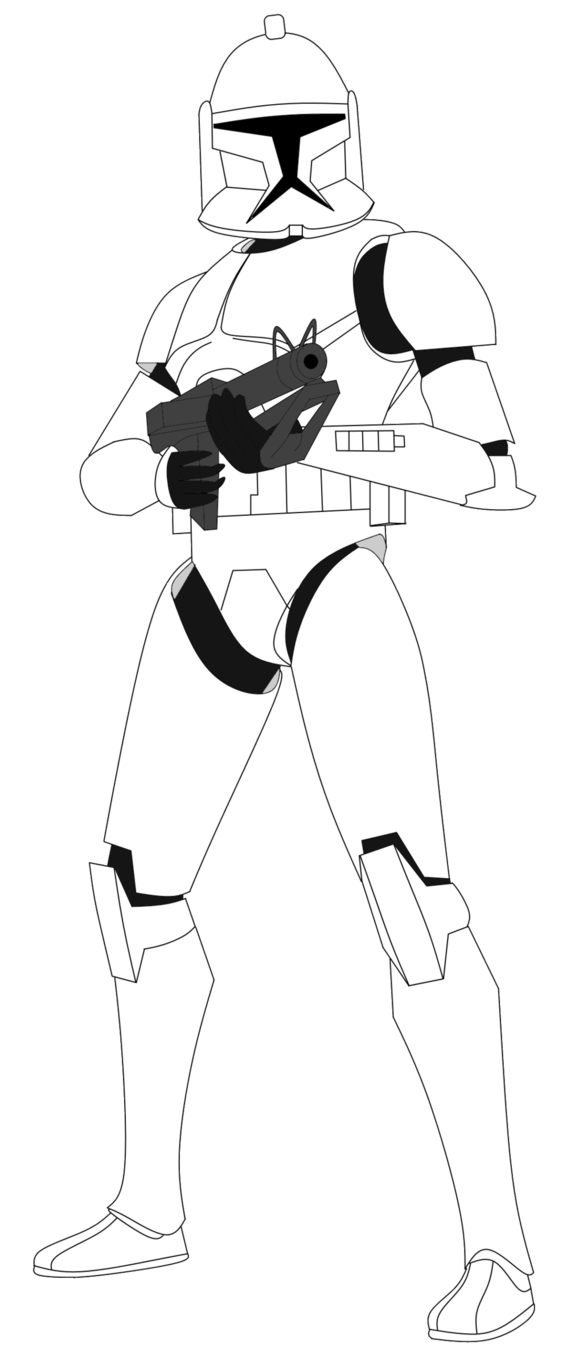 Shooting drawing clone trooper. With dc s v