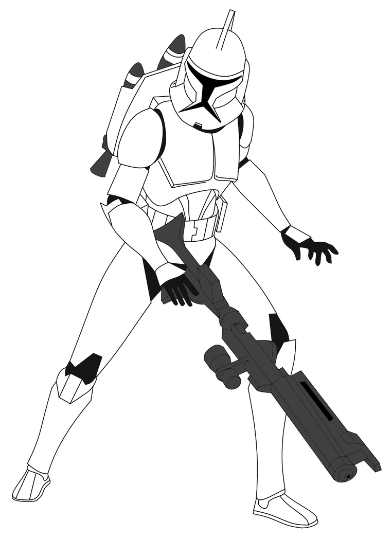 Shooting drawing clone trooper. Jet by fbombheart on