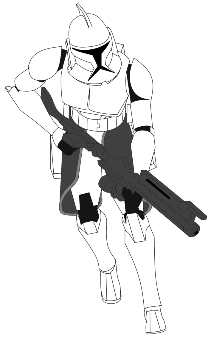 Shooting drawing clone trooper. At getdrawings com free
