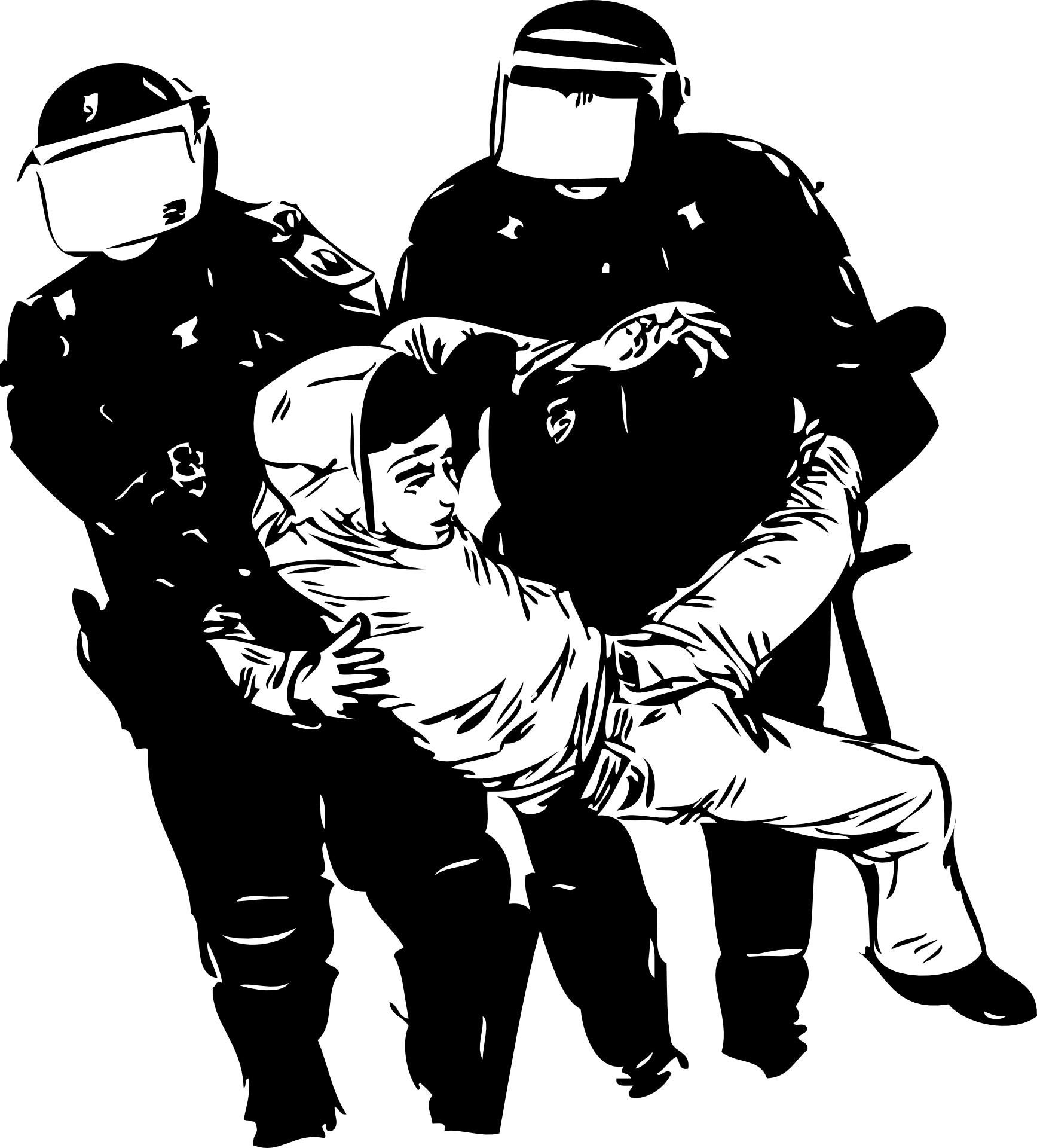 Shooting drawing cop. Ethical implications of victim