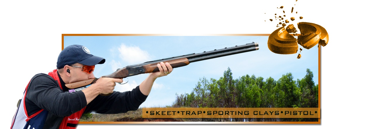 Steel challenge rochester brooks. Shooting drawing skeet clipart black and white library