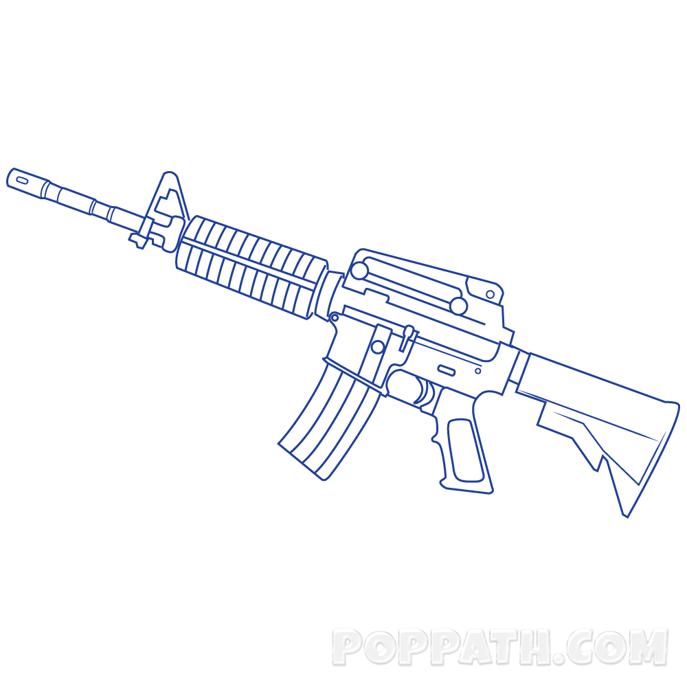 Weapon drawing graffiti. How to draw a