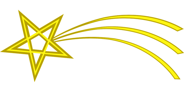 shooting star png transparent background