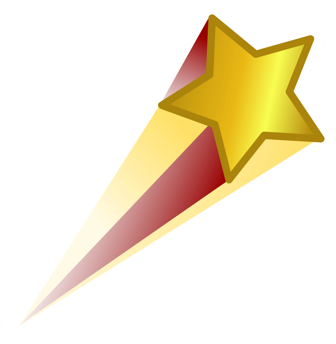 Shooting star png transparent background. Red gold stickpng