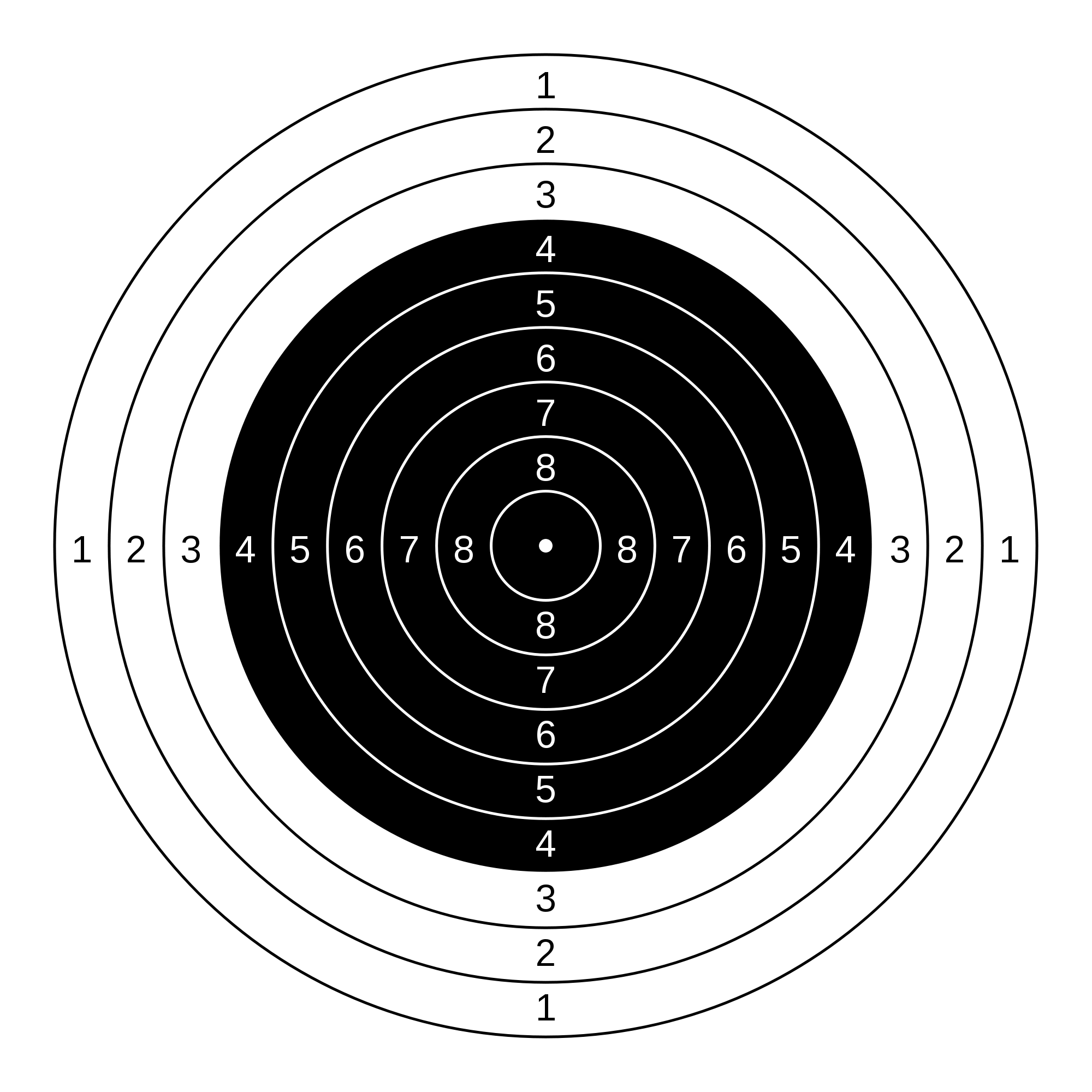 Bullseye svg printable. File m air rifle
