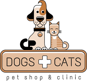 Dog and cat with. Shop vector graphic black and white library