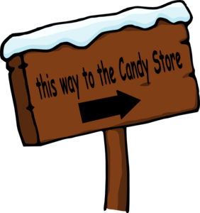 Shop vector candy store. Sign clip art at