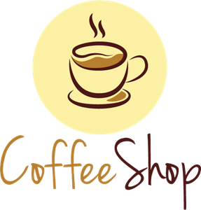 Vector cafe coffee shop. Logo eps free download