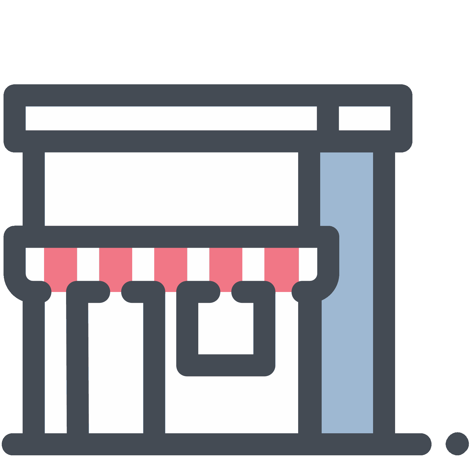 Shop vector department store. Icon free download png