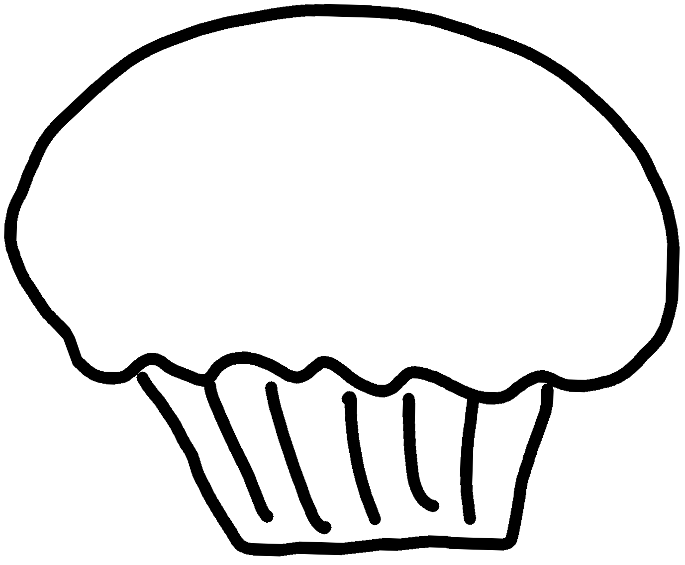 Cute cupcake coloring pages. Shopkin drawing black and white vector library library