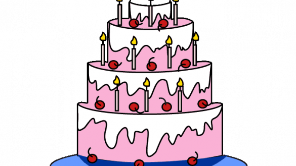 Drawing cake cute. How to draw a