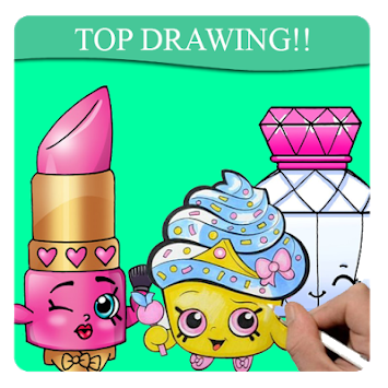 Shopkin drawing cute. Download how to draw