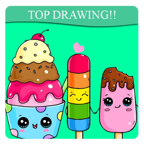 Drawing shopkins ice cream. How to draw cute
