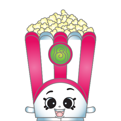 Drawing shopkins popcorn. Clip black and