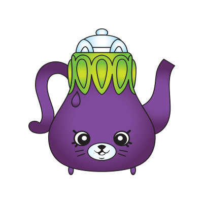 Shopkins character png. Polly teapot a common