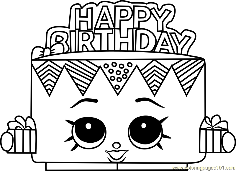 Shopkins clipart betty. Birthday coloring page free