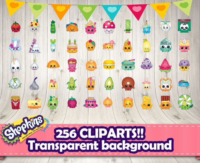 Shopkins clipart transparent background. Differents by decorationsleon on