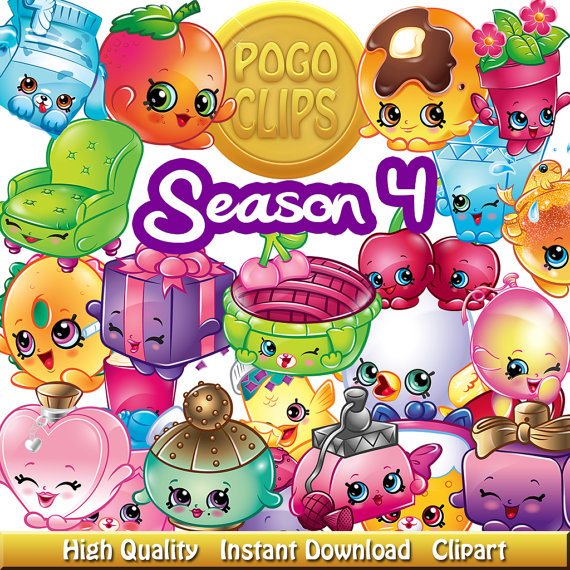 Shopkins clipart transparent background. Printable clipground season characters