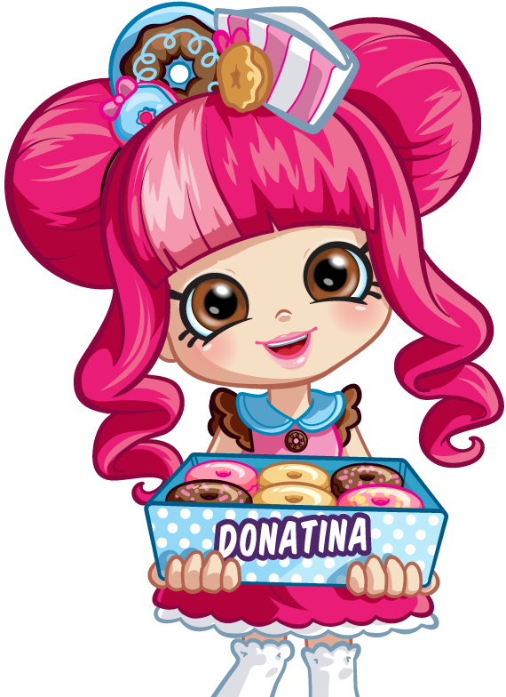 Shopkins shoppies png. Character donatina pinterest birthdays