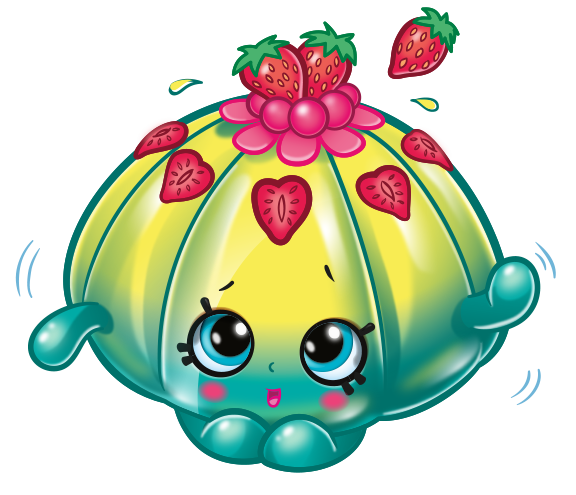 Shopkins strawberry png. Image cute fruit jello