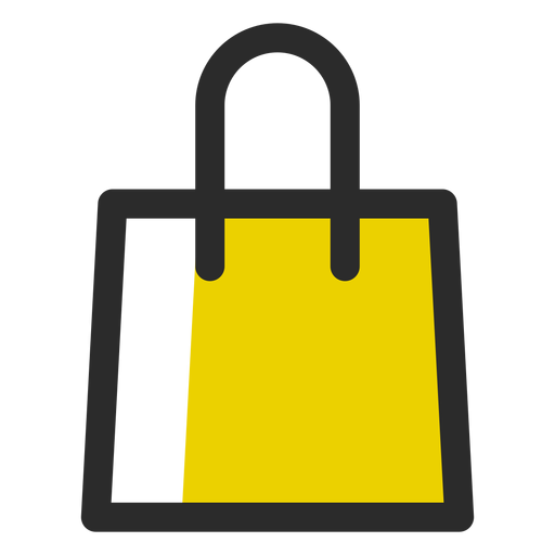 Shopping bag icon png. Colored stroke transparent svg