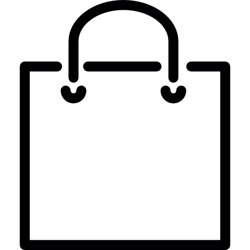 Shopping bag icon png. Square with handle free