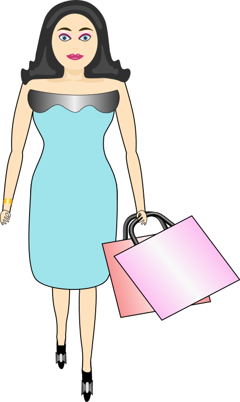 Shopping clipart black woman. Free mother cliparts download