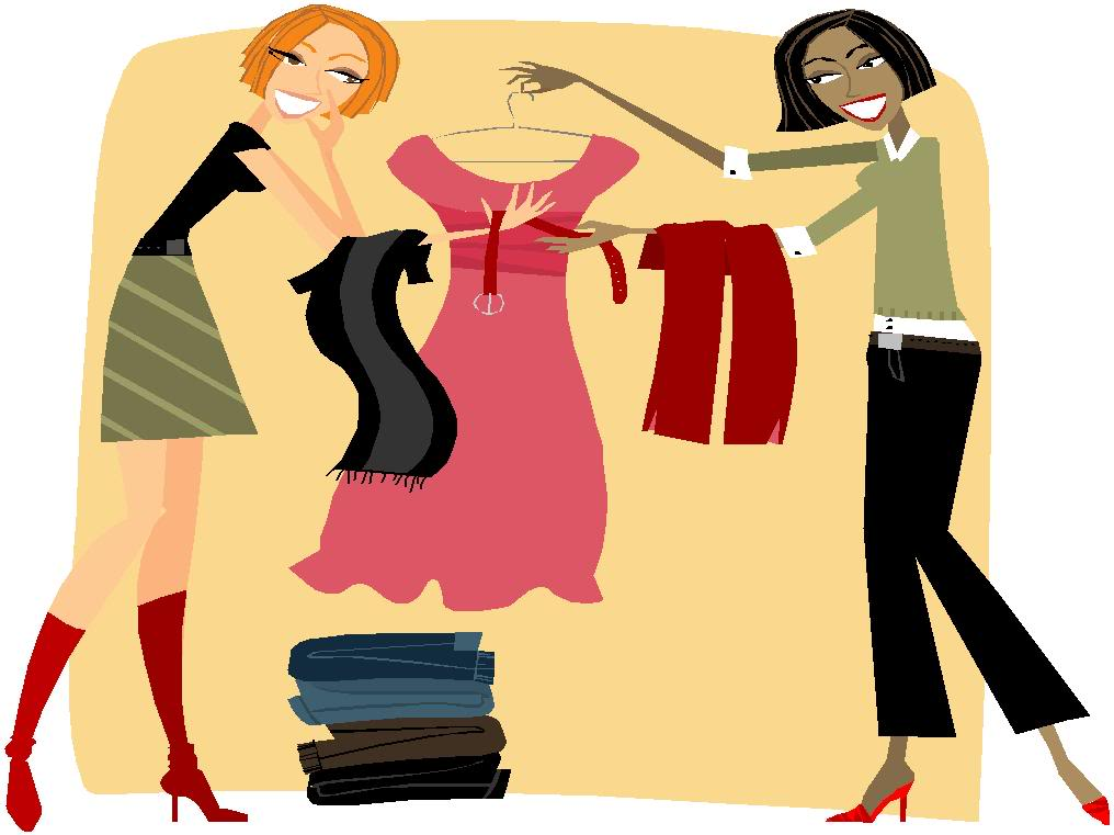 Clothes. Shopping clipart boutique shopping clip black and white download