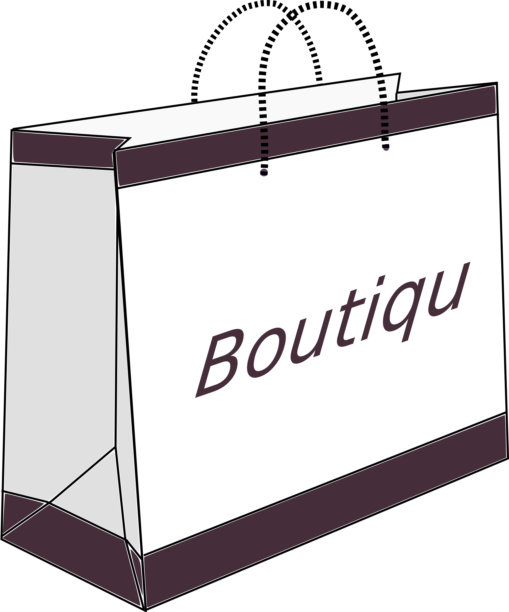 Shopping clipart boutique shopping. Bag big image png
