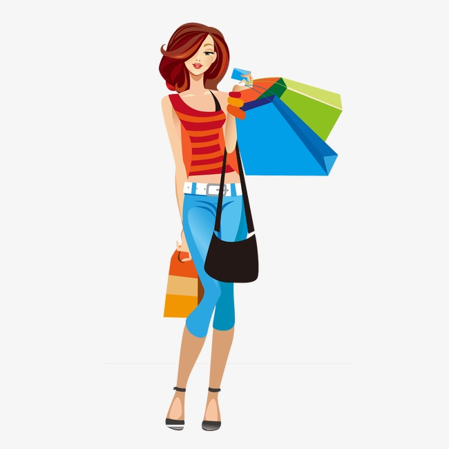 Shopping clipart boutique shopping. Girl fashion png image